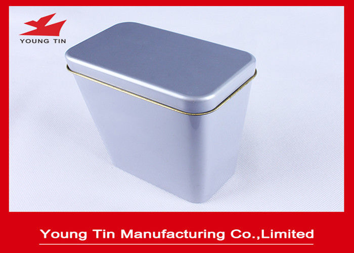 Blank Metal Tea Tins With Hinged Lids , Tinplate Canister Box 0.23 MM Steel Tinplate